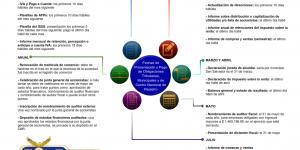 Fechas de presentación y pago de obligaciones tributarias, municipales y de centro nacional de registro